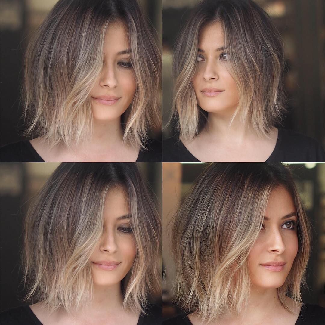 I Really Love This Color And Haircut Love The Looks So Beautiful Blended Cheveux Courts Bob Cheveux Courts Coiffure Courte