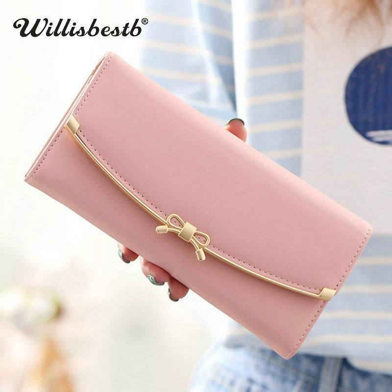 e45eabed5601 2018 New Designer Purse Leather Female Wallets Women Brand Long Hasp ...