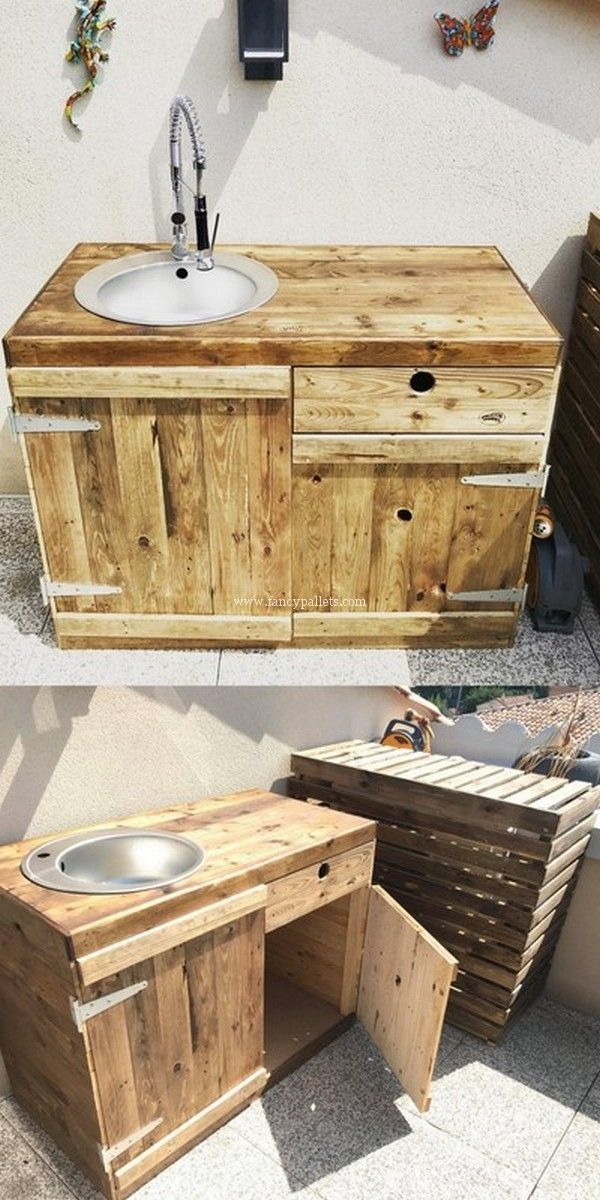 25 Modern Pallet Recycling Plans And Projects Diy Pallet Vanity