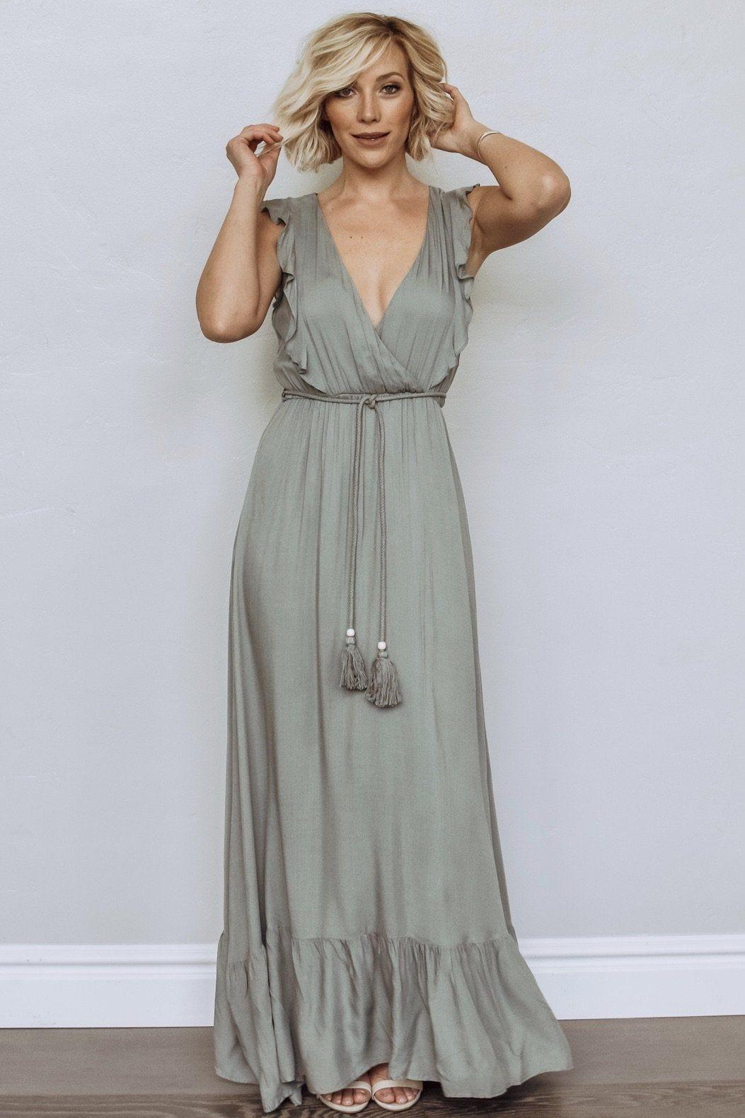 Jolie Deep V Maxi Dress In Sage Maxi Dress Dresses Junior Formal Dresses [ 1581 x 1053 Pixel ]