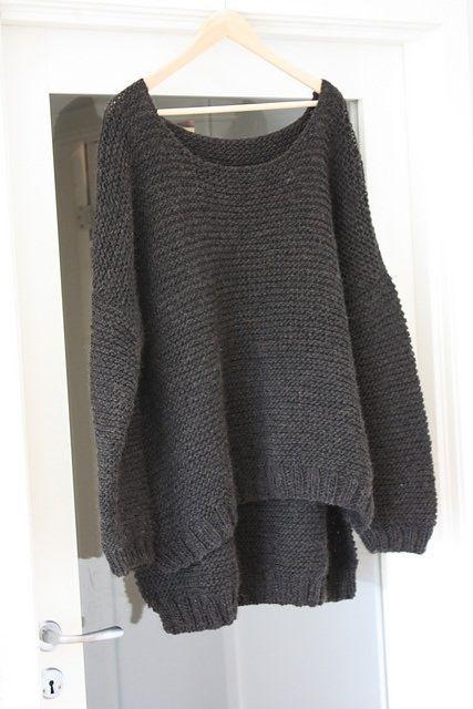 Asymmetrischen Pulli stricken #knittedsweaters