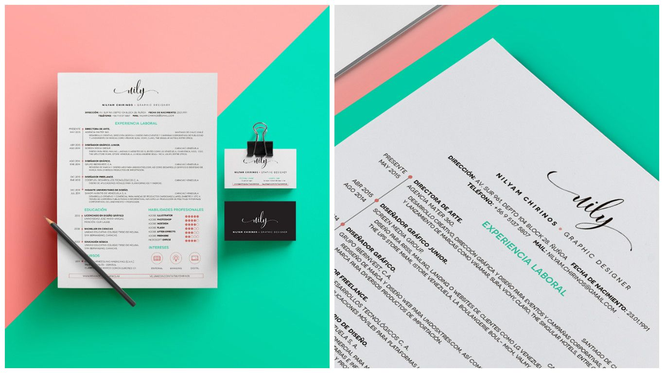 70 Well-Designed Resume Examples For Your Inspiration | Pinterest ...