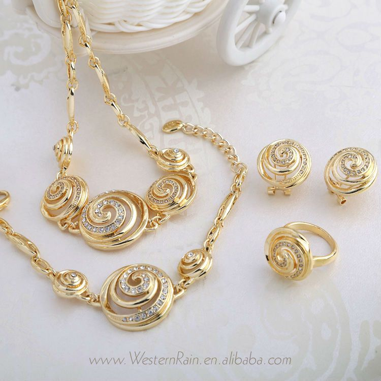 818c690b146 Lovely Design Wholesale Sea Shell Shape Gold Peru Jewelry Bridal Fashion jewelry  set For Christmas Gift