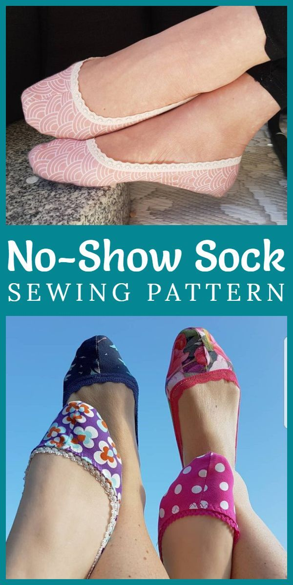 Ballerina No-Show Socks pdf sewing pattern by Syttochprytt. Fun scrap-busting project to sew your own socks. Perfect to prevent sweaty feet in summer! #sewing #sewingsocks #summersewing #pdfsewingpattern #scrapfabric