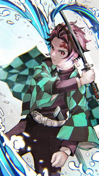 Tanjiro Kamado Katana Kimetsu No Yaiba 4k Hd Mobile Smartphone And Pc Desktop Laptop Wallpaper 3840x2160 1920x1080 216 Anime Demon Slayer Anime Anime Art