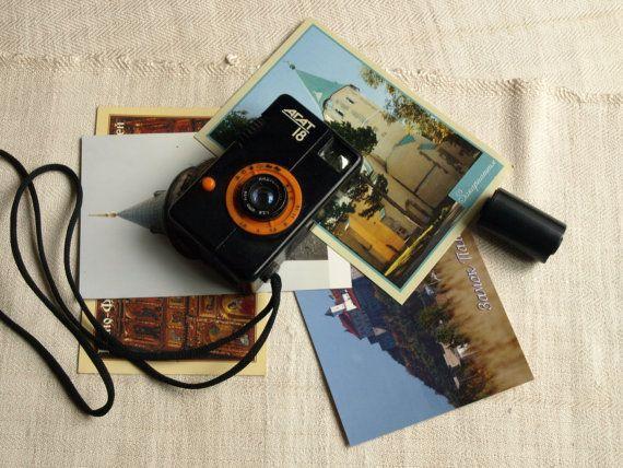 Vintage 35mm film camera Agat 18 Antique photo camera Old soviet camera 80s Lomography retro camera Street photography Gift for him
