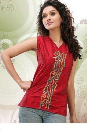 61f9e56f493db short kurti Indian Tops