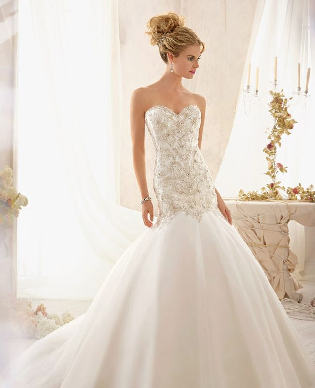 Drop waist wedding dress say yes to the dress for Wedding dresses with dropped waist