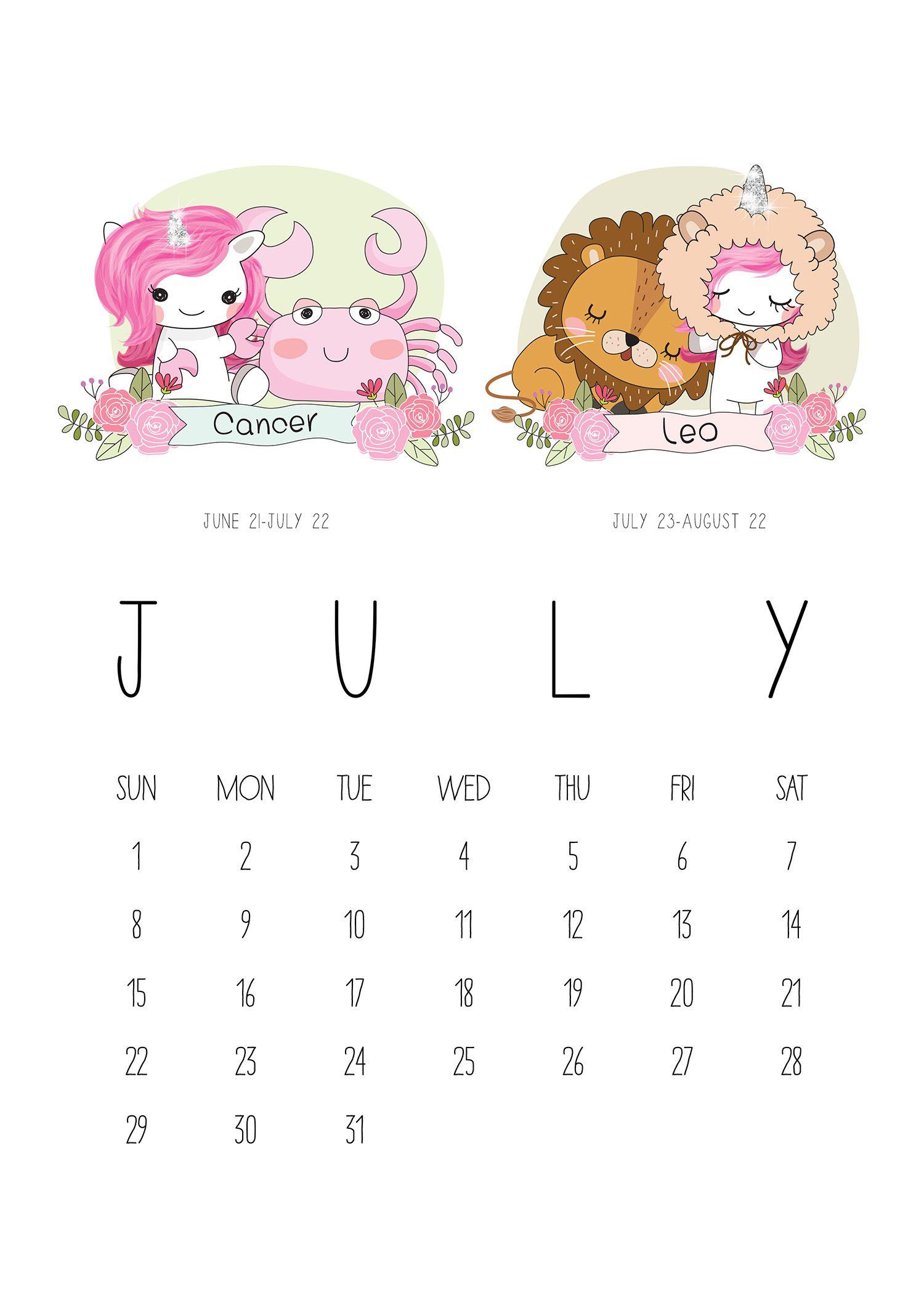 Zodiac Calendar June : Tcm unicorn zodiac calendar g pixel calander