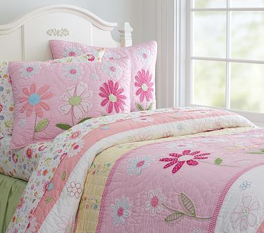 Pottery Barn Kids Daisy Garden Quilted Bedding Have This For Baby Bed Maybe I Ll Just Get It