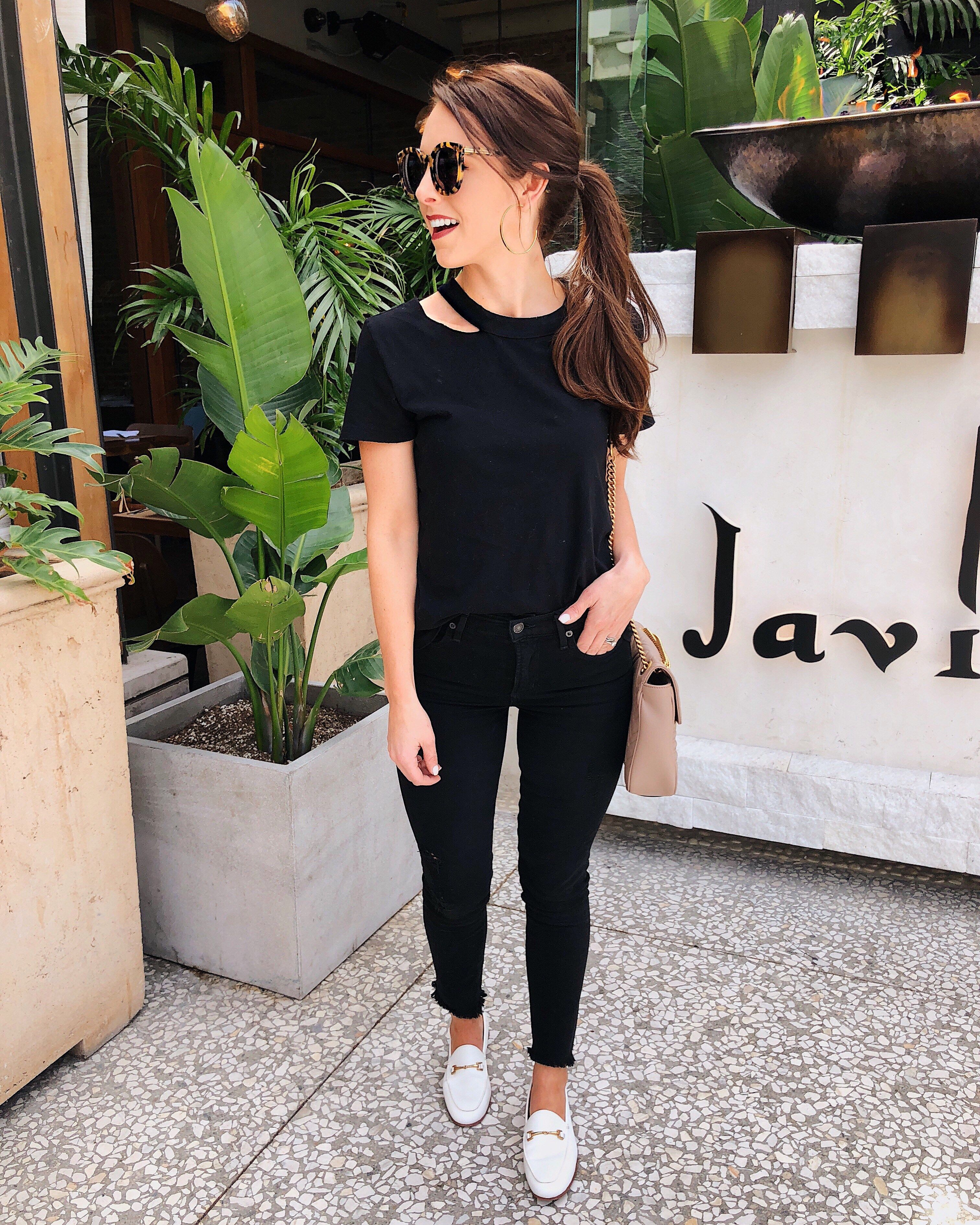 dc2652a4b6f 5 Ways to Wear White Loafers   street style women spring summer 2019 ...