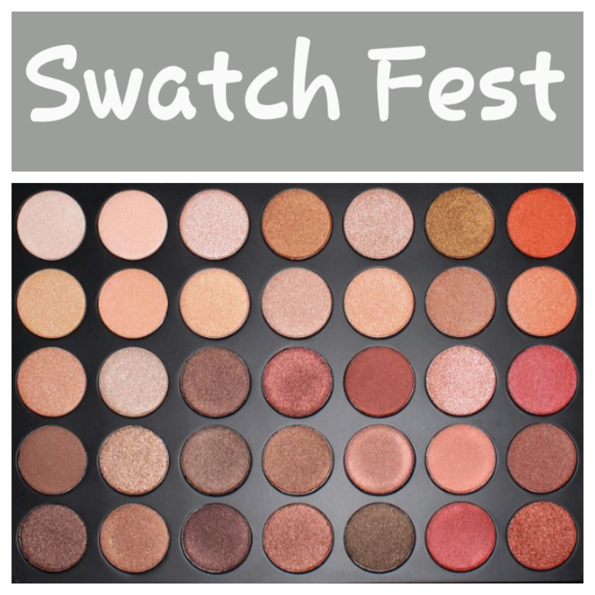Ready…Set…Swatch Ready to get spammed with swatches of the new 35OS palette. It is the all shimmer version of the highly coveted and hyped up Morphe 35O palette to hit the makeup real…