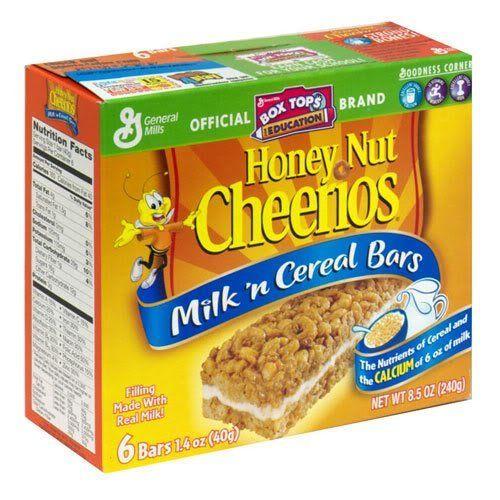 General Mills Milk 'n Cereal Bars Honey Nut Cheerios, 6 B