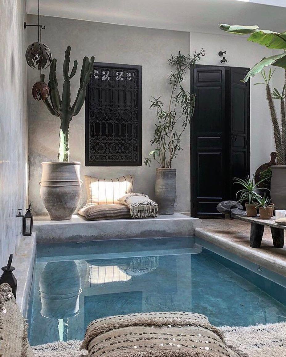 Lowsheen On Instagram La Maison Marrakech In Marrakech Morocco Photography By The Secret Souk La Maison Marra Outdoor Pool Decor Cozy House House Design