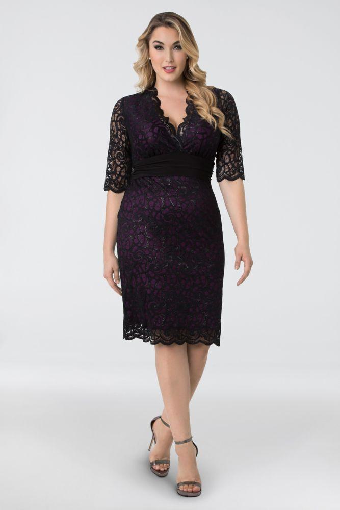 5b85ce01dd5 Lumiere Lace Plus Size Cocktail Dress Style 13160907