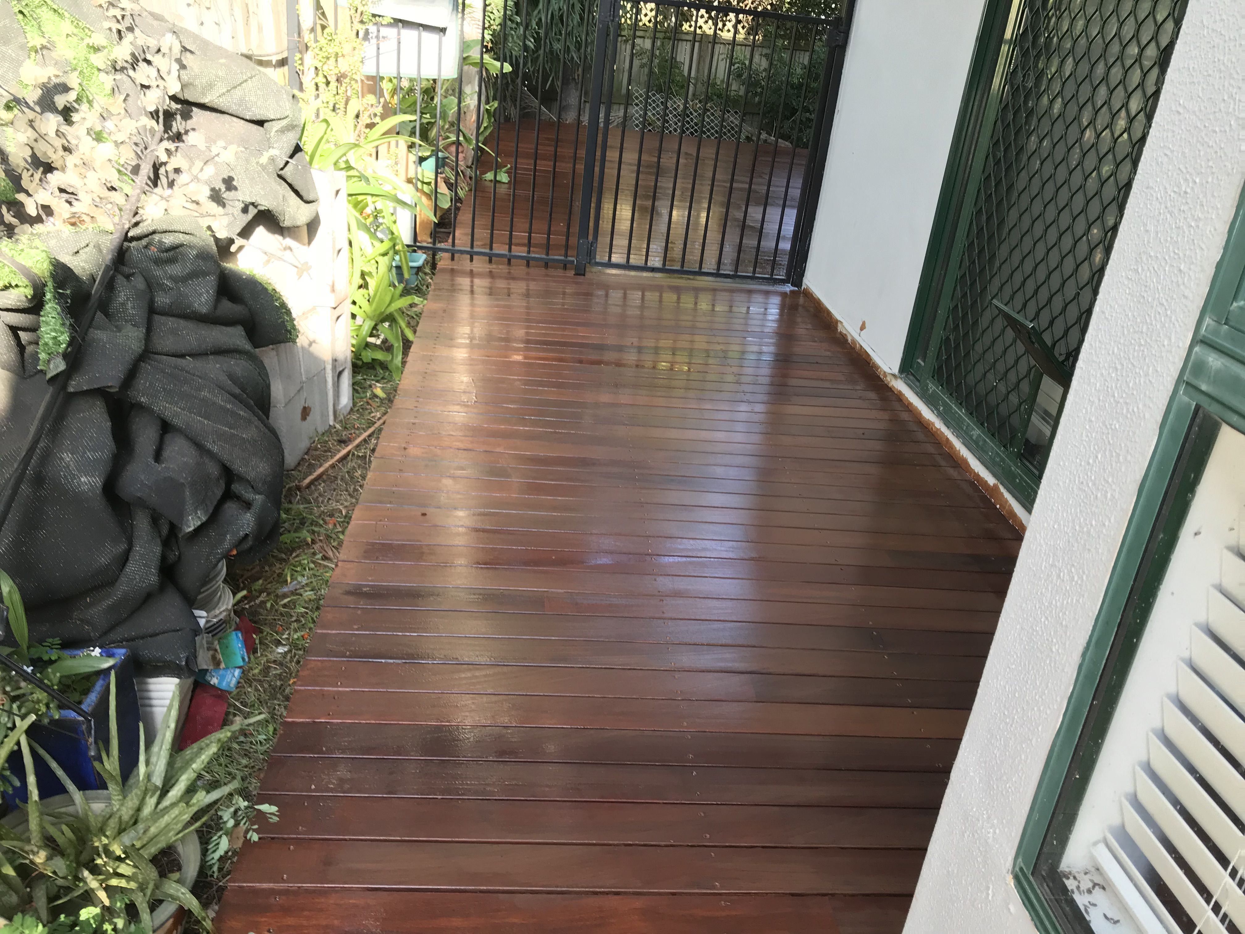 we updated the sideway with a new deck decks pinterest gold