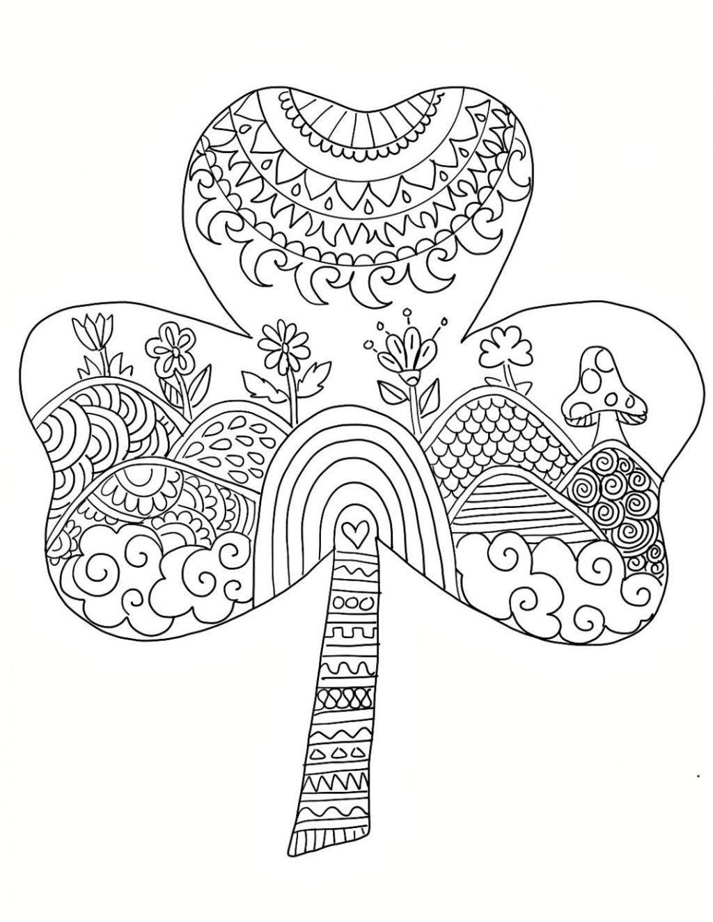 St Patrick Day Coloring Pages Unique Coloring Pages Size St Patricks Day Coloring Pages For St Patricks Coloring Sheets Coloring Pages Pattern Coloring Pages [ 1325 x 1024 Pixel ]