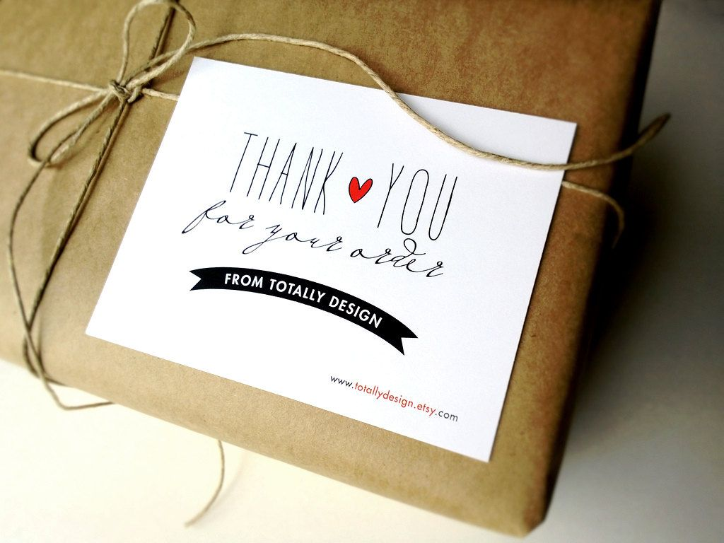 Artsy Thank You For Your Order Cards Custom By Totallydesign 15 00