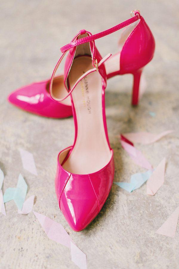 hot pink heels, photo by Mikki Platt http://ruffledblog.com/barbie ...