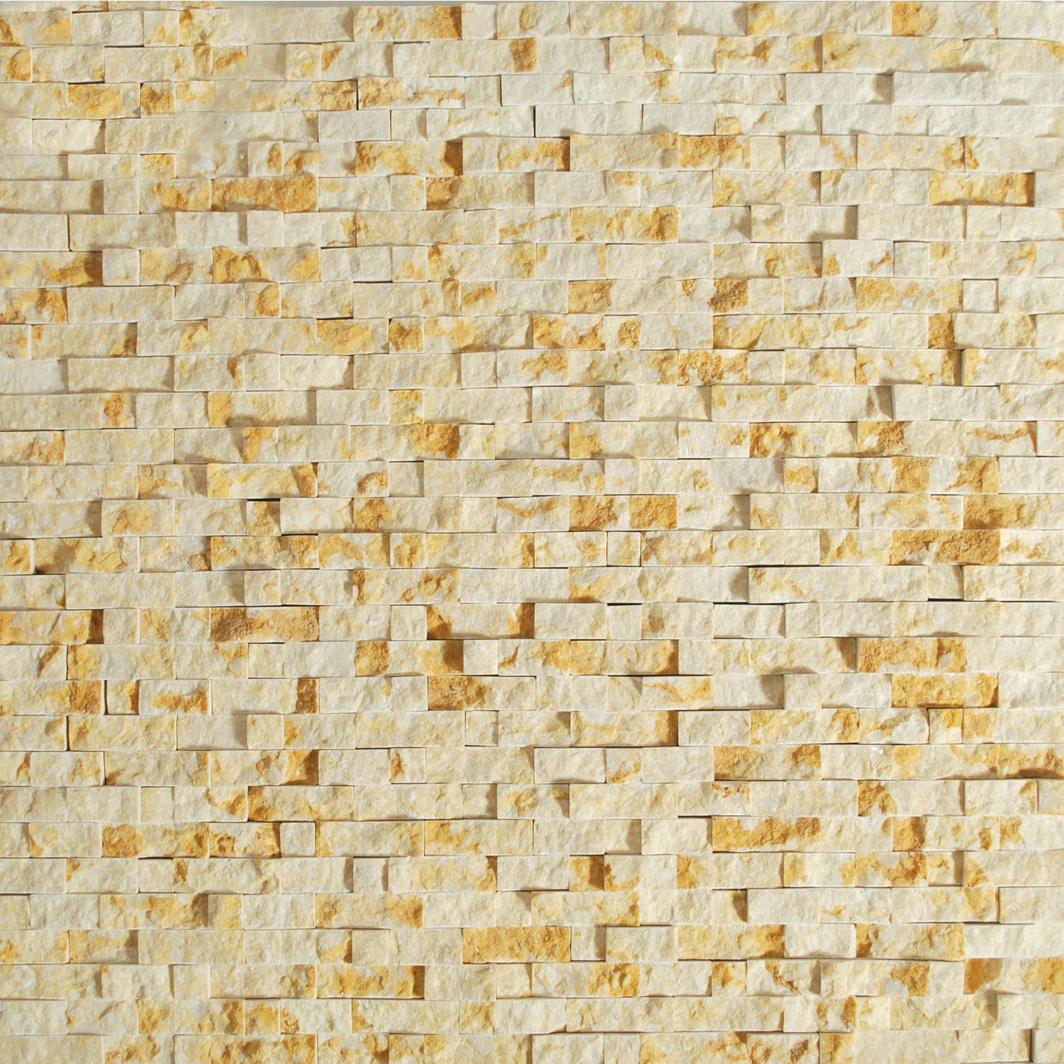 Tesoro 12 X 12 Gold Beige Micro Mosaic Sheet From SPLIT FACE ...