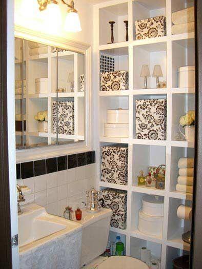 Unique Storage Space for Small Bathrooms