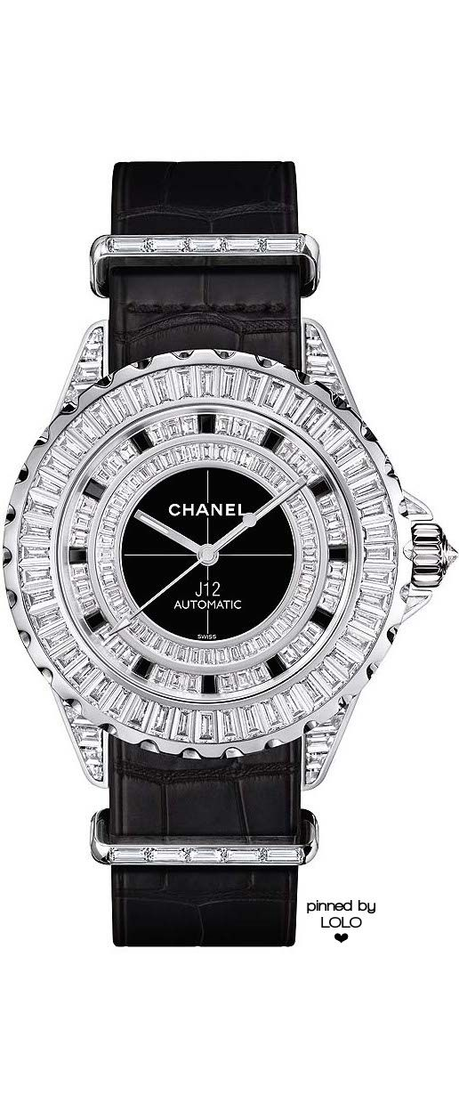 cef56949401 Chanel watches  the cool new J12 with a NATO strap