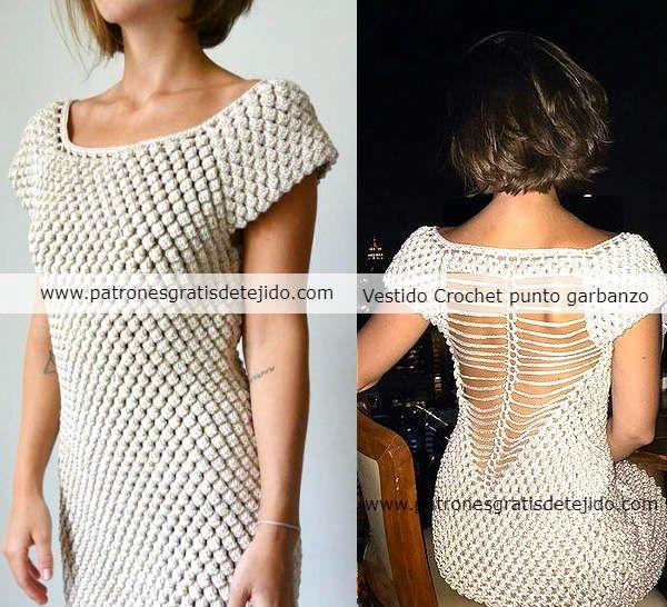 Cómo Tejer Blusa Crochet Punto Garbanzo / Paso a paso | Crochet y ...