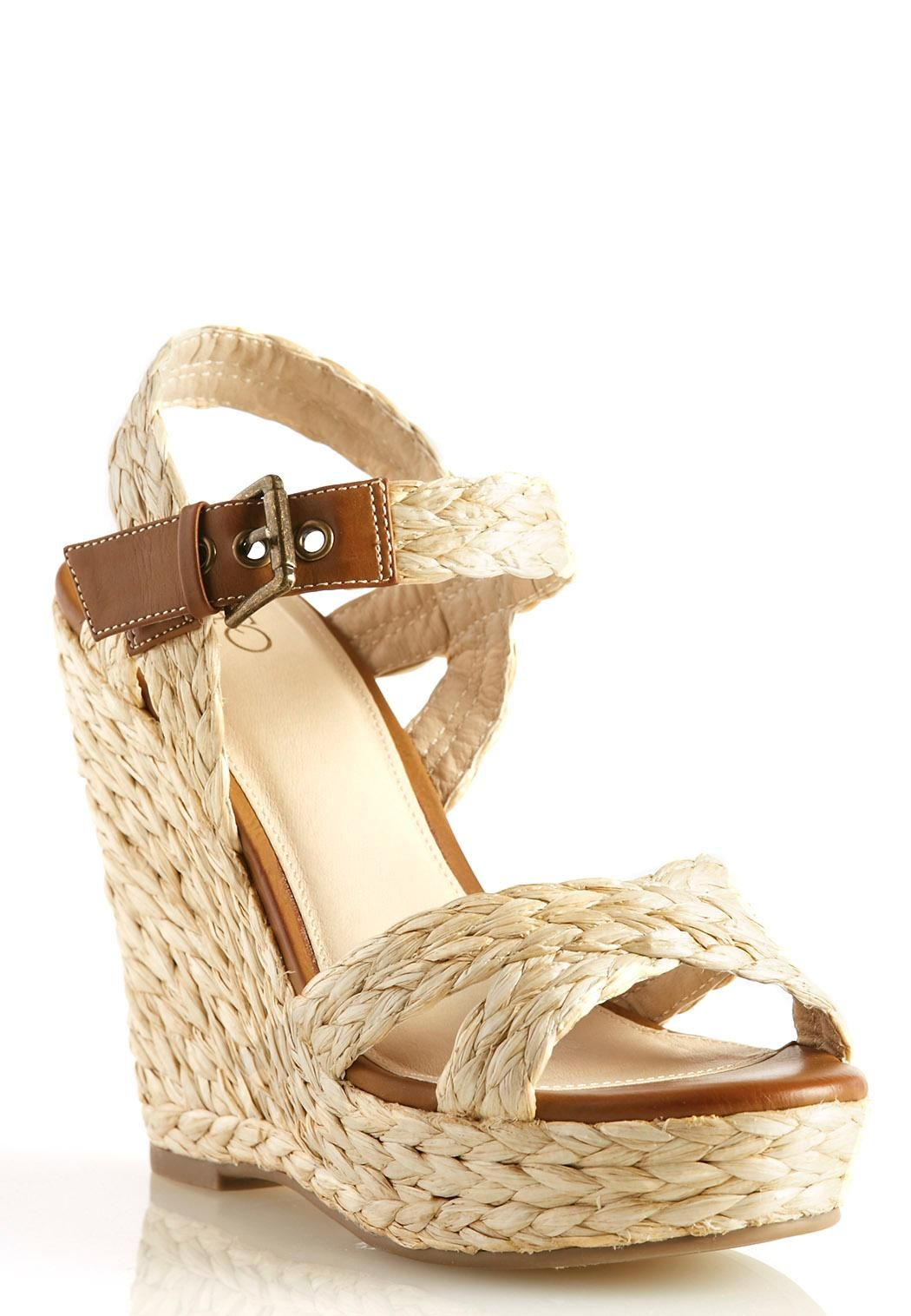 Braided Straw Wedge Sandals Sandals Wedge Sandals Shoes