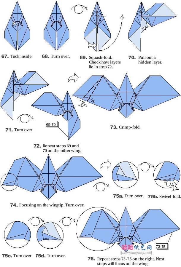 origami bats 7 bat pinterest origami bats and