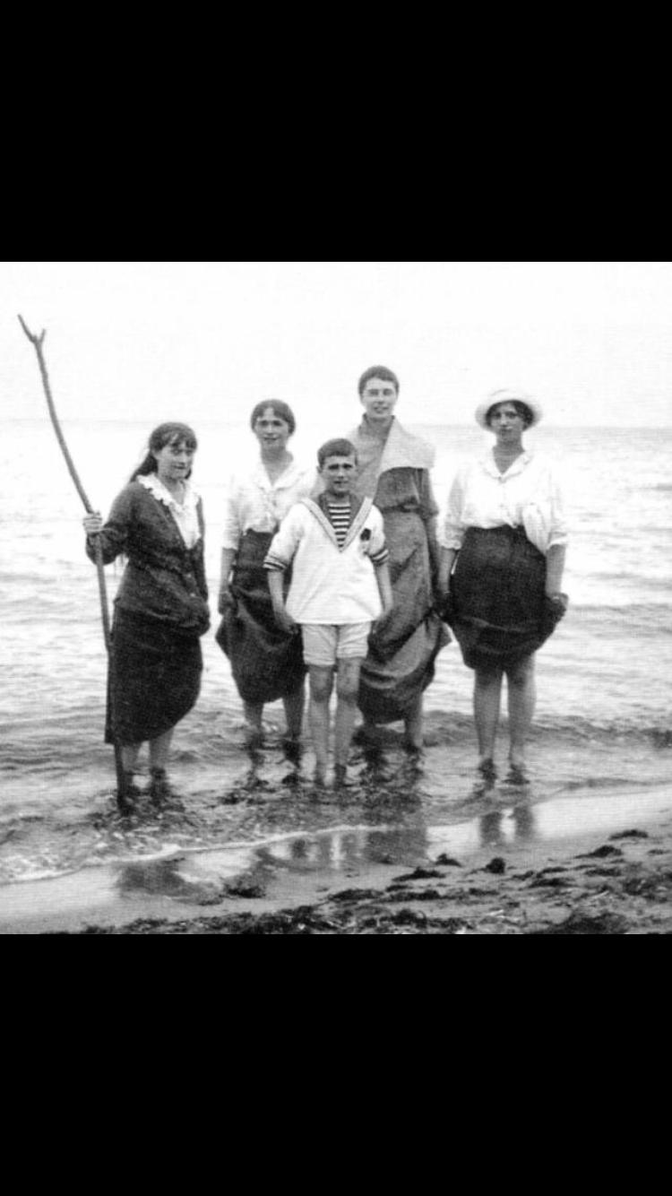 Anastasia, Olga, Alexei, unknown girl
