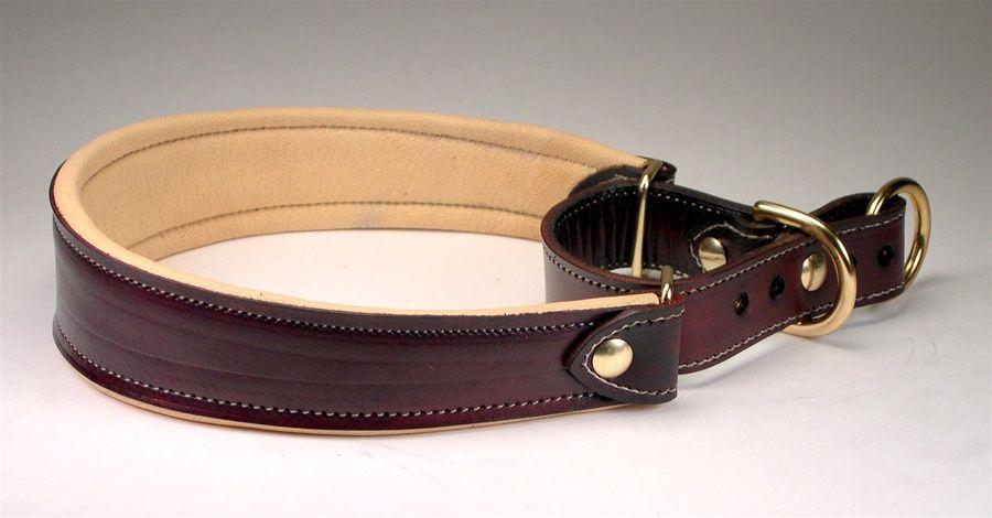Custom Leather Padded Martingale Collars Martingale Dog Collar