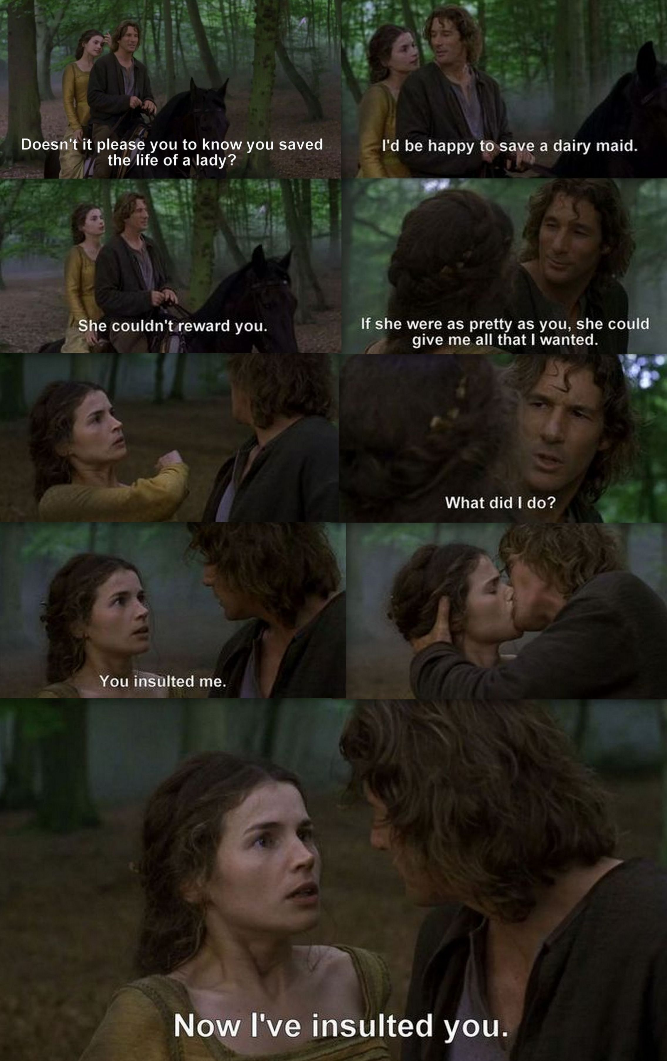 first knight lancelot �� guinevere first kiss things