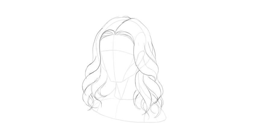 How to Draw Hair StepbyStep