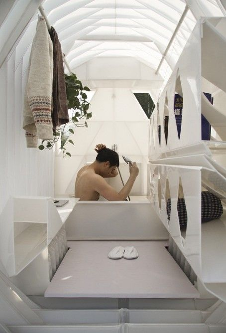 Captivating While Thereu0027s No Room To Swing The Proverbial Cat, There Is A Small Bathtub  In