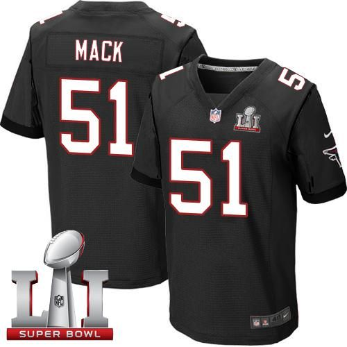 814447e21 nfl jersey with captain patch Nike Falcons Alex Mack Black Alternate Super  Bowl LI 51 Men s Stitched NFL Elite Jersey