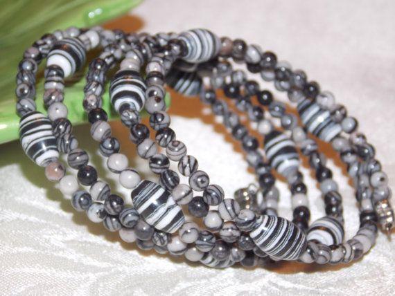 Zebra Wrap Bracelet by EriniJewel on Etsy, $15.00