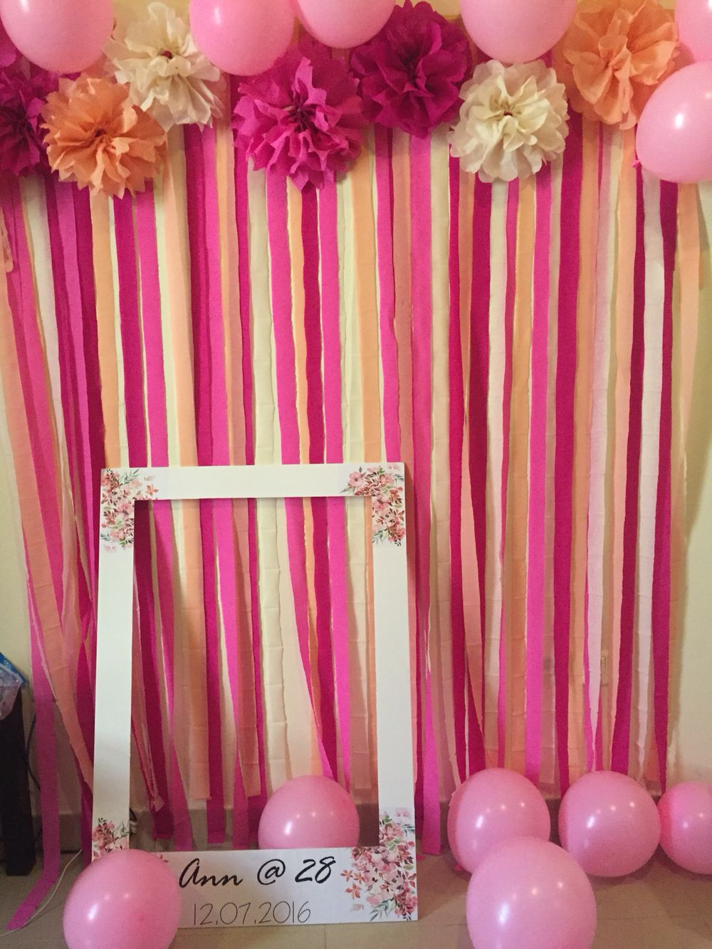 Diy Photo Backdrop For My Friend S 28th Birthday Party