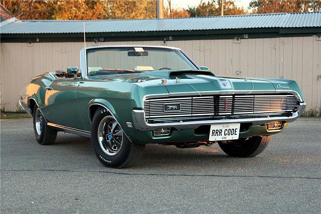Barrett-Jackson Lot: 969.1 - 1969 MERCURY COUGAR XR7 CONVERTIBLE Sold $88,000.00