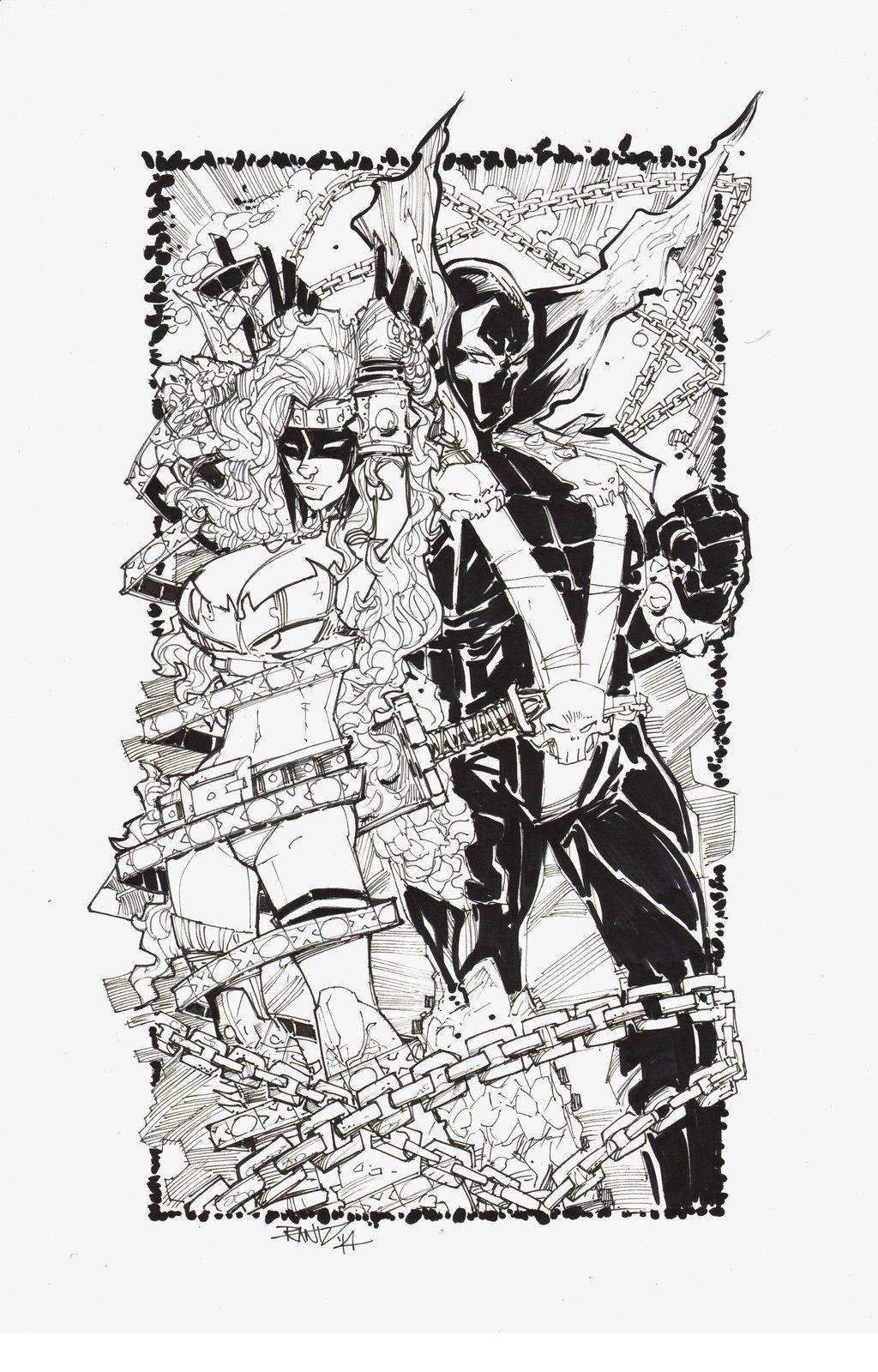Angela & Spawn by Randy Kintz | Comic Book | Pinterest
