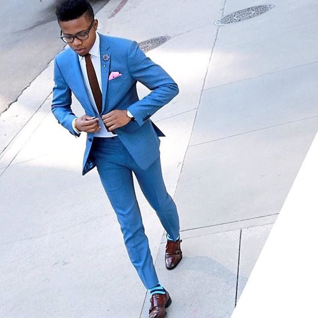 I love a well fitted #bluesuit @perkensbienaime http://ift.tt/1f8LY65 ]