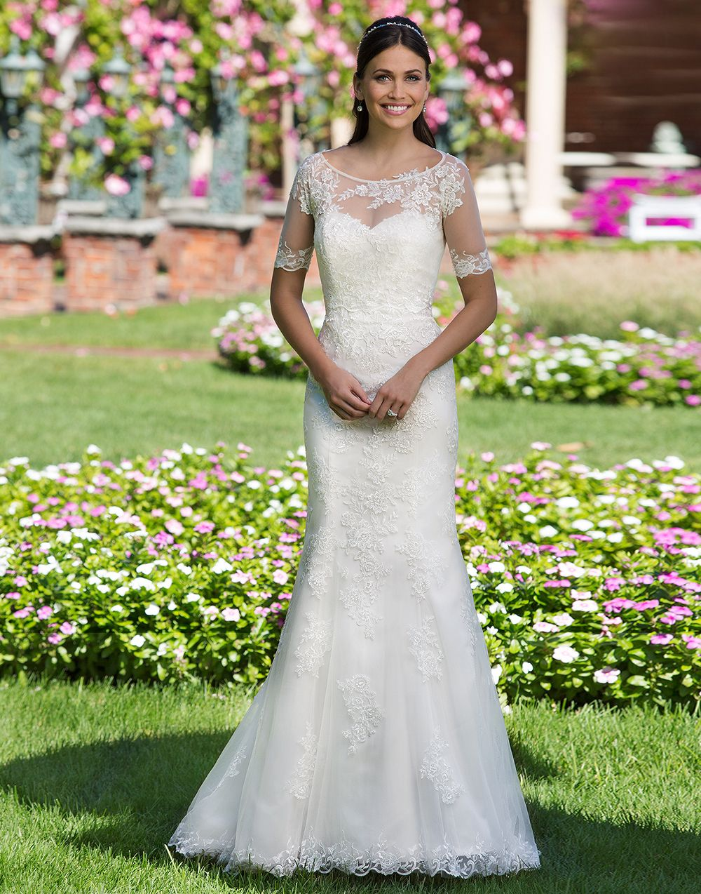 Sincerity wedding dress style a traditional tulle fit and flare