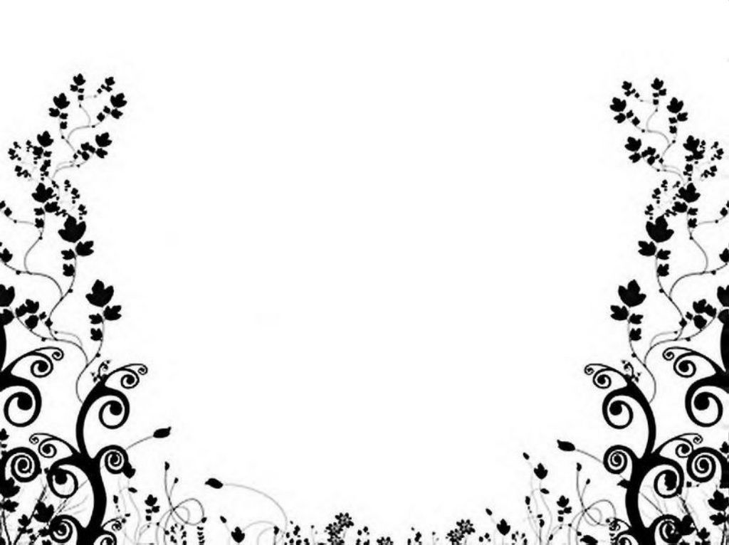 Black White Floral Pattern Wallpaper Backgrounds Borders And