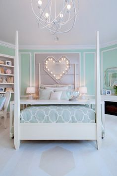 8 Beautiful Interior Design Photos, Light Mint Green Bedroom | Live ...