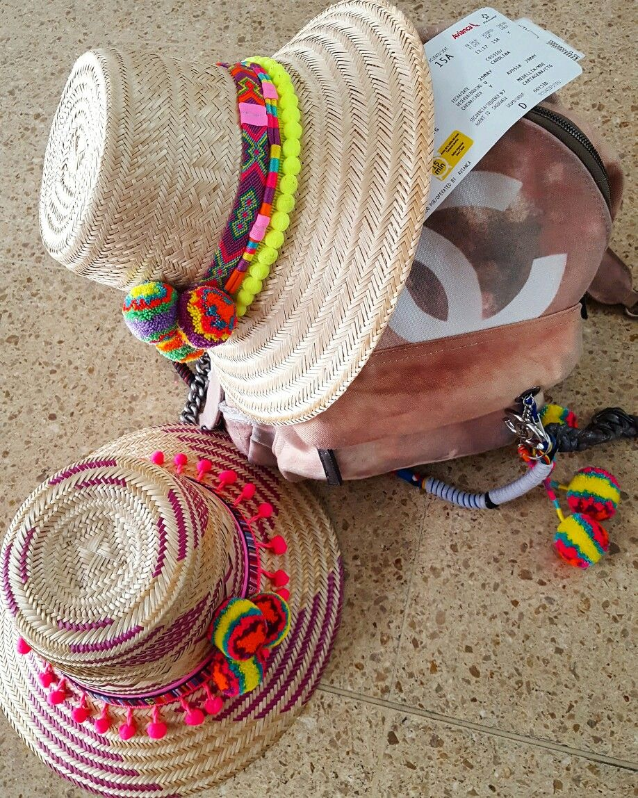 30c1e15ad7b98 SOMBRERO WAYUU DECORADO ❤beautiful hat decorated with weave Wayuu ♡ sombrero  de…