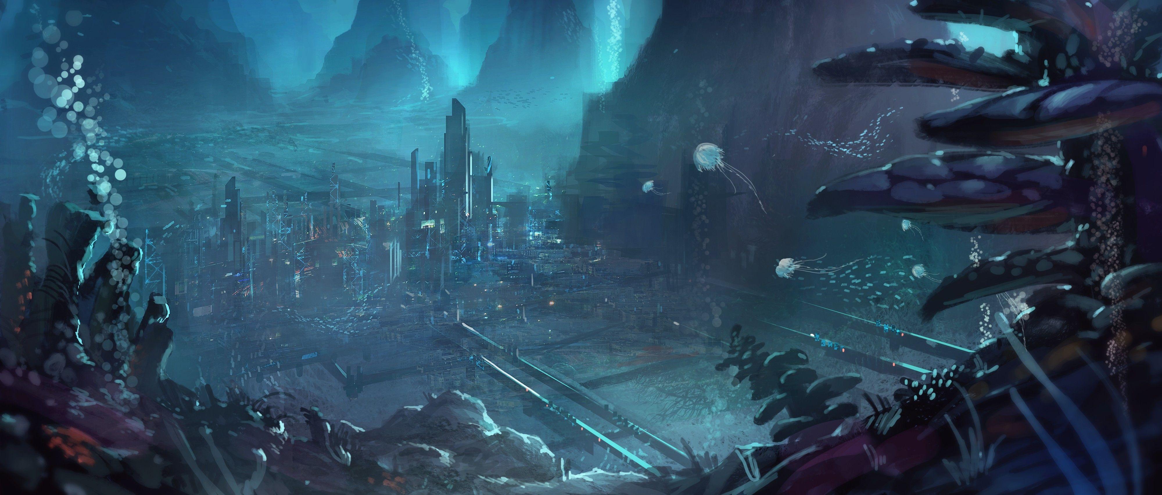 Backgrounds For Alien City