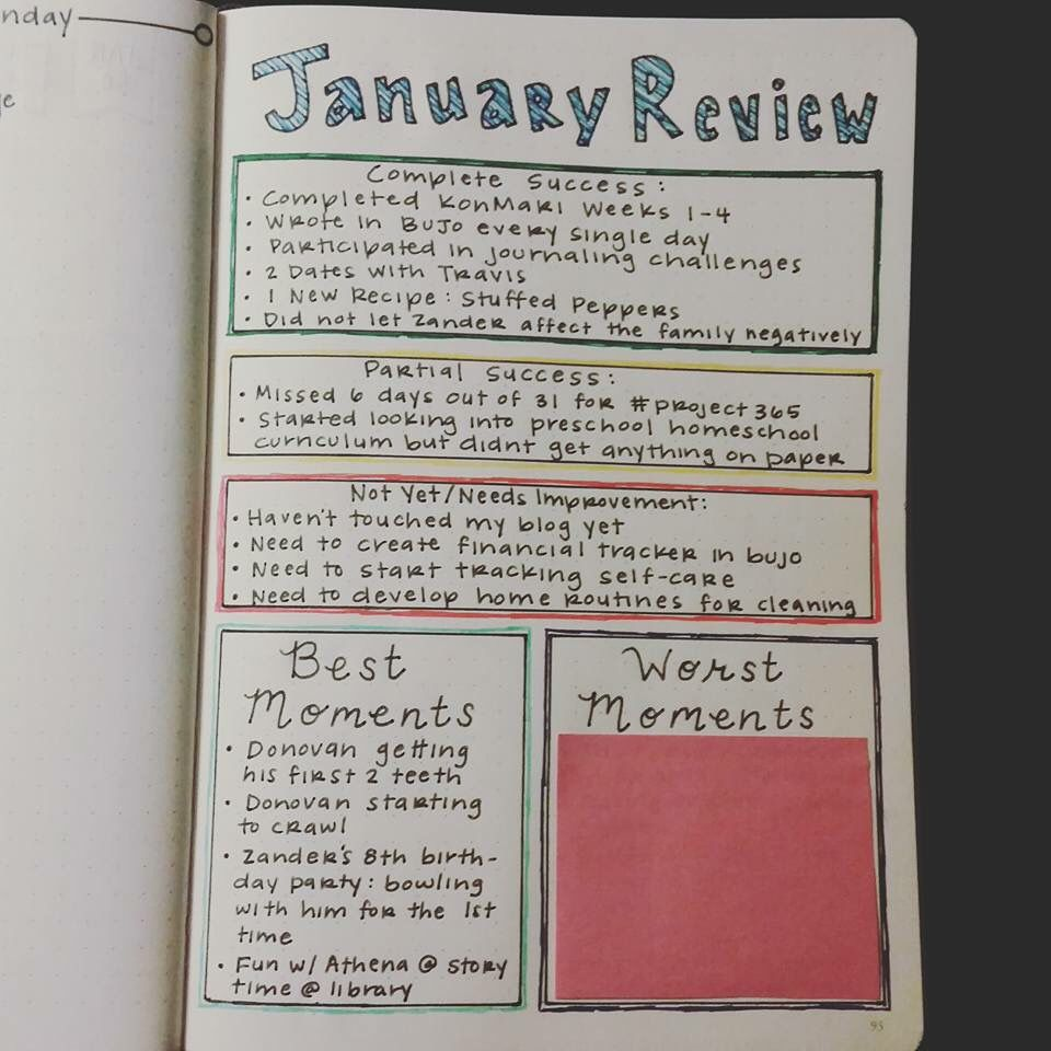 Great Monthly Review For Bullet Journal #bujo | Bullet Journal | Pinterest | Monthly Review ...