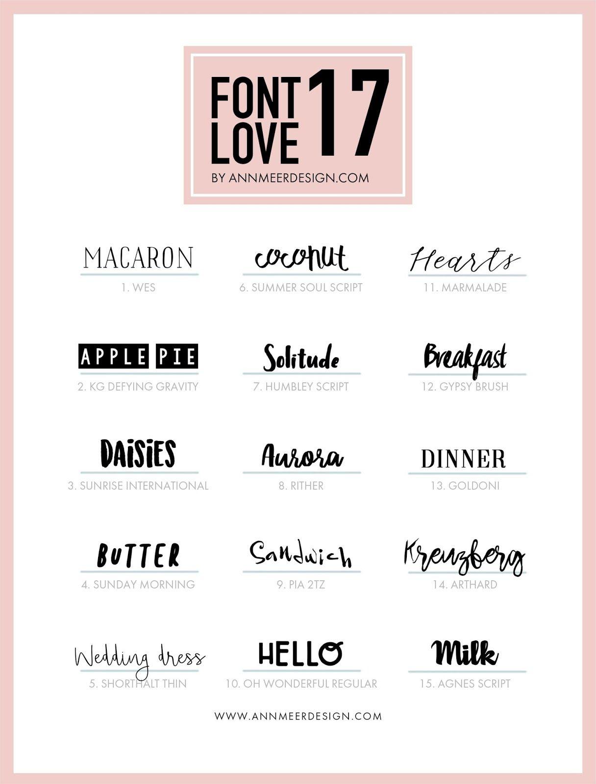 15 Kostenlose Fonts 17 Pinterest