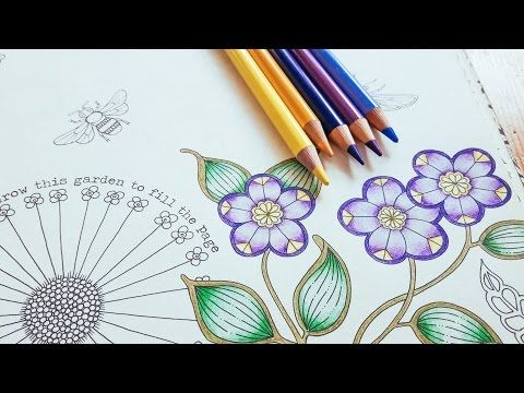 Coloring Tutorial Secret Garden Pt 1 Flower With Polychromos Youtube Coloring Book Art Coloring Books Forest Coloring Book