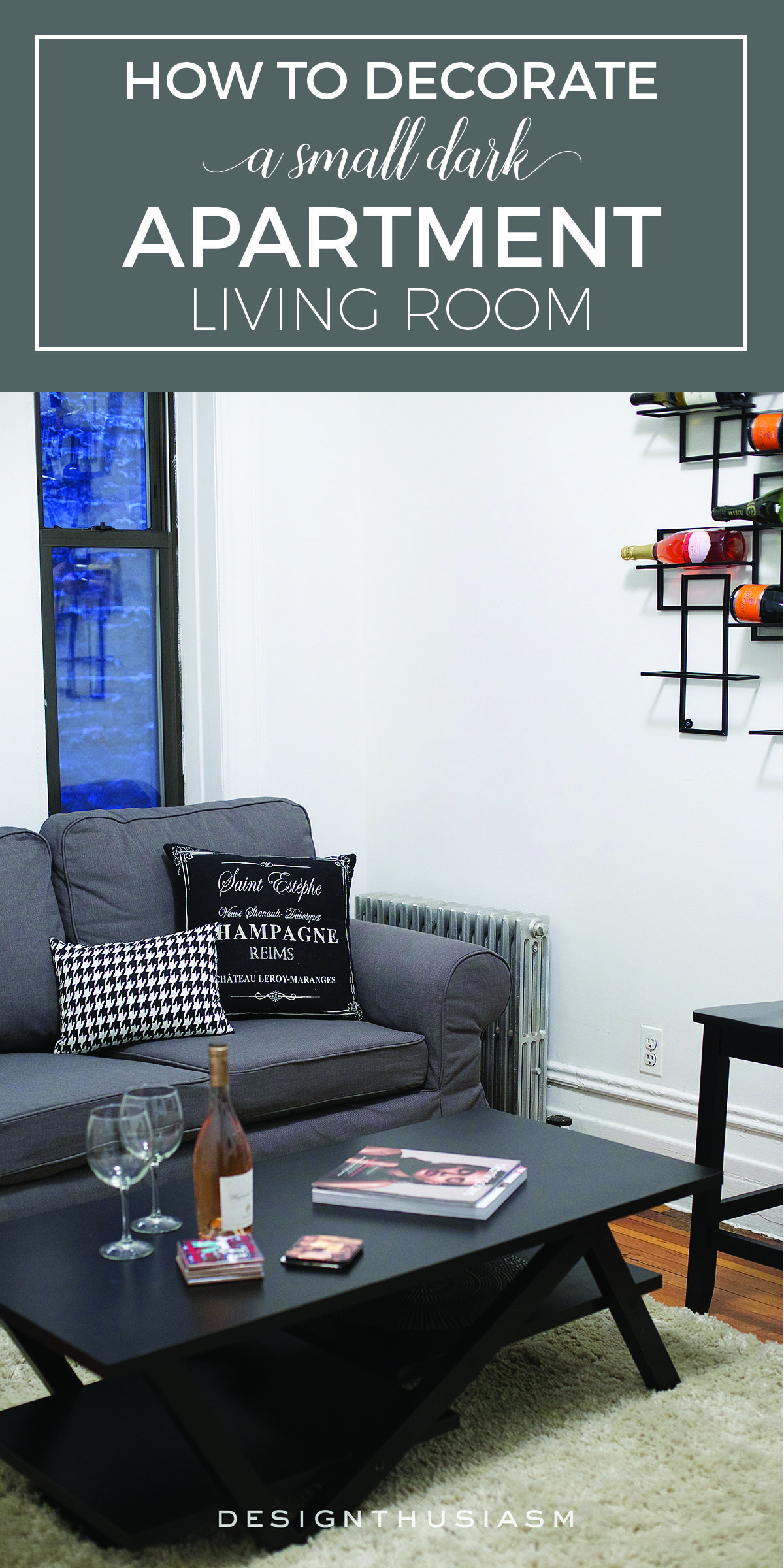 How To Decorate A Small Dark Living Room Urban Apartment Decor Dark Living Rooms Living Room Decor On A Budget