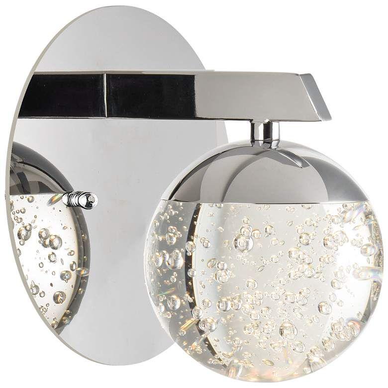 Et2 Orb Ii 6 High Polished Chrome Led Wall Sconce 47n93 Lamps Plus In 2020 Led Wall Sconce Sconces Wall Sconces